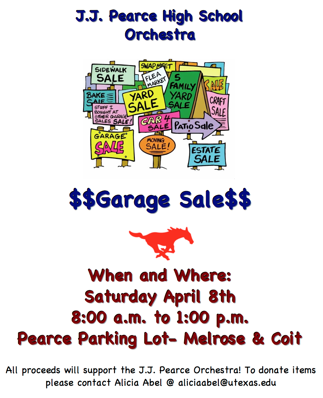 Orchestra-Wide Garage Sale