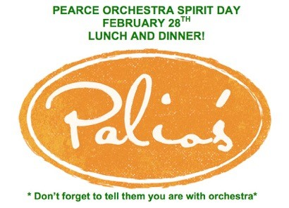 February 28: Fundraiser at Palio's!